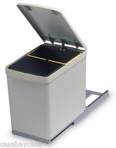 PATTUMIERA per cucina sottolavello estraibile 2 secchi 7,5L ì | eBay