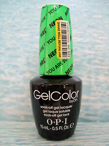 Opi Gelcolor Gc N34 You Are So Outta Lime The Neons Gel Color Polish 5 Oz New 619828108050 Ebay