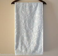 C Home Light Blue+white Floral Pattern 100% Cotton Soft Bath Towel-27 X 52