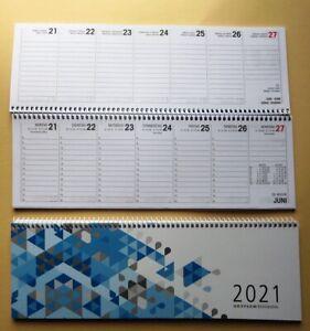 Kalender 2021 Querkalender quer Spiralbindung Tischkalender 2 Seiten = 1 Woche