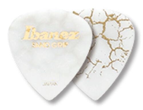 1,0 mm Ibanez Sandgrip Crack Plektren PA16HCG-WH weiß Grip Wizard 6-er Pack