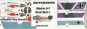 Albatros-D-V-Dt-Jaeger-WW-1-Decal-Set-Hans-Joachim-von-Hippel-Jasta-5-1-72