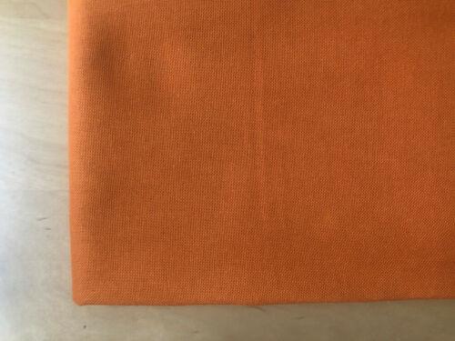 Plain Medium Weight Cotton Fabric Dress Curtains 280 cm Wide BURNT ORANGE