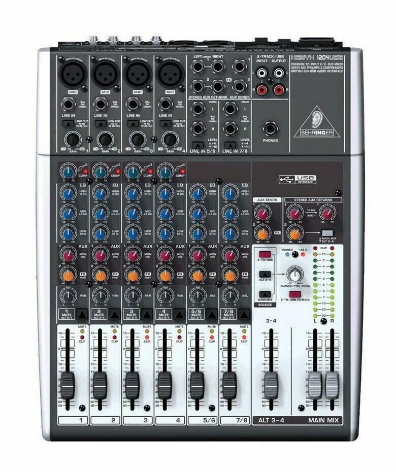Behringer 1204USB 12-Channel USB Mixer Board w/ Phantom-Powered Mic Preamp. Buy it now for 216.00