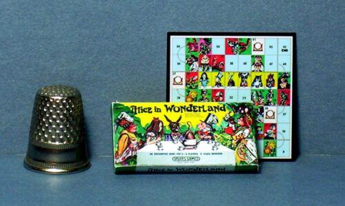 Dollhouse Miniature 1:12 Alice In Wonderland Game 1970s  dollhouse girl game