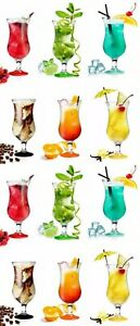 6x Set Fiesta Hurricane Pina Colada Cocktail Glass Large 16oz Boxed Glassware