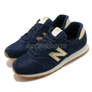 Details about New Balance 373 Navy Gold Gum Women Casual Lifestyle Shoes Sneakers WL373FD2 B