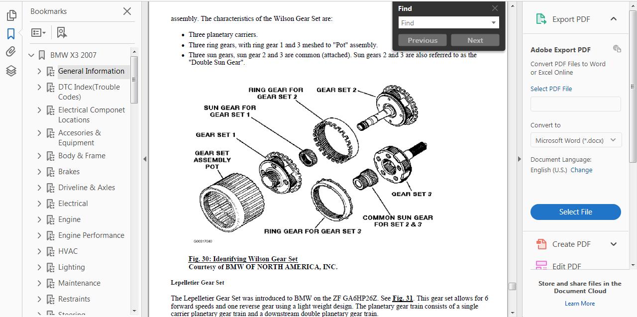 Official Workshop Manual Service Repair For Bmw X3 E83 2003 2010 2007 Engine Diagram Ebay
