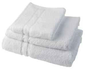 12 PACK WHITE COTTON HAIR SPA BATH 20X40 SHOWER BEACH TOWELS ABSORBENT FAST DRY Bath Home, Furniture & DIY