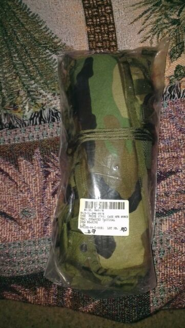 USGI ENHANCED LOAD BEARING TACTICAL VEST W POUCHES WOODLAND CAMO USED NO WEB BLT