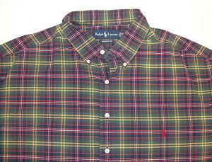 Blue Pony Ls 95 Fit Polo Classic Ralph Oxford Lauren Shirt Plaid HwfSvfq8