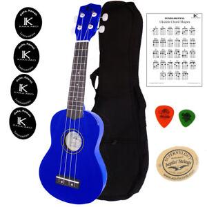 Kaka Ako Beginner Ukulele Soprano Hawaii Blue Gloss Bundle Chord Chart Ebay