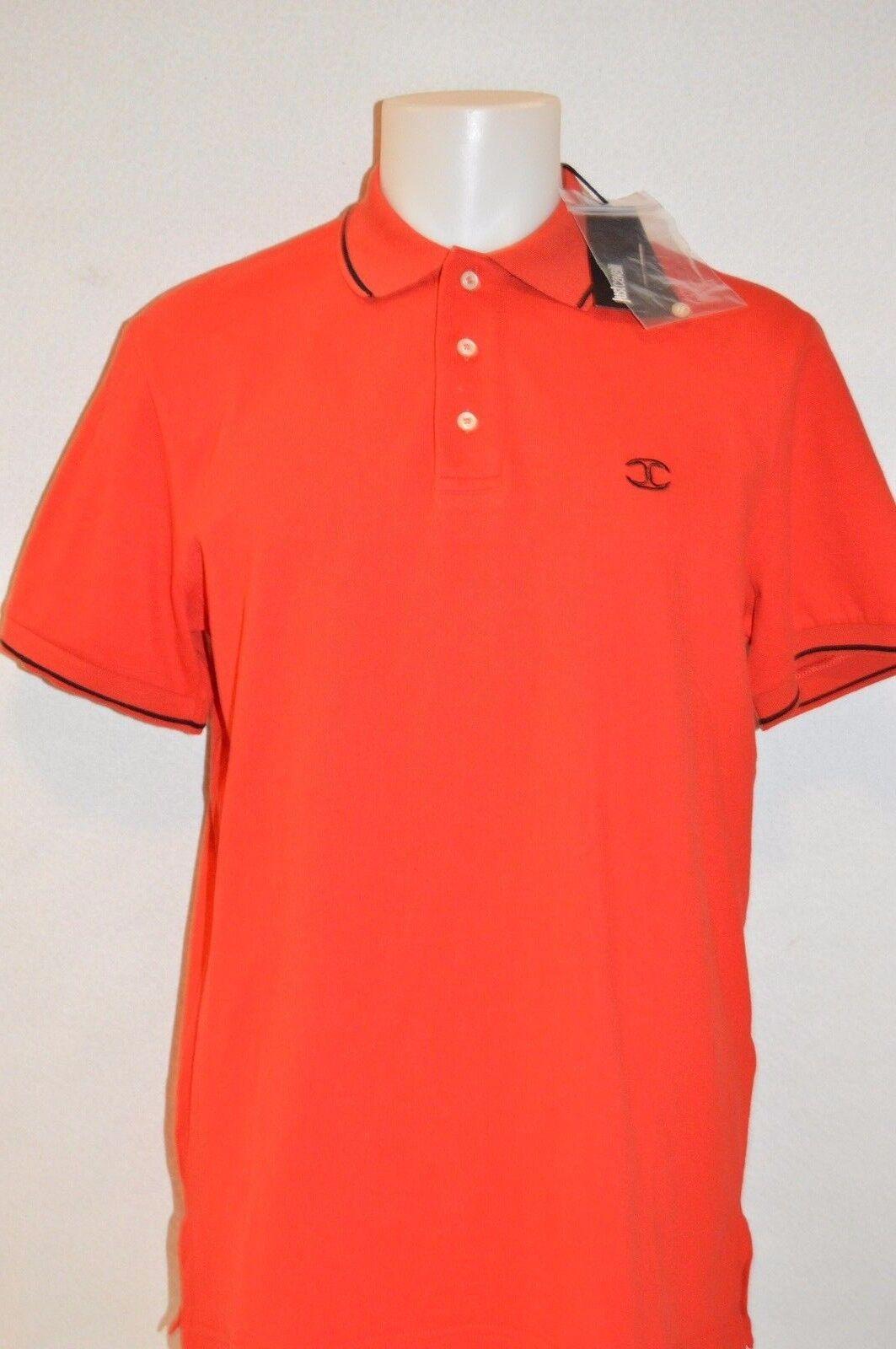 JUST CAVALLI Man's LOGO 3 Button Polo T-shirt NEW  Größe 52  X-Large  Retail 224