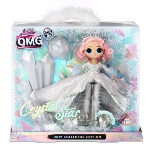 LOL Surprise OMG CRYSTAL STAR Collector Doll Winter Disco Glitter Globe Fashion✨