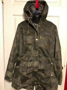 KENSIE-CAMO-JACKET-COAT-LARGE-L
