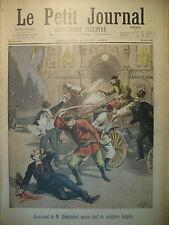 ASSASSINAT MINISTRE DE BULGARIE RAFLE POLICE HOTELS GARNIS LE PETIT JOURNAL 1895