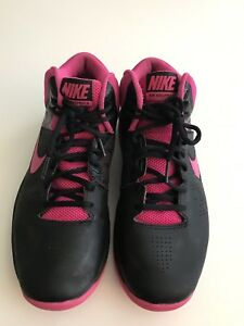 Women S Nike Air Size 8 Black High Top Lace Up Tennis Shoes Ebay