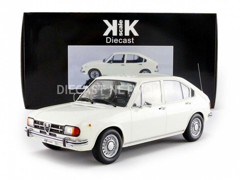 KK SCALE MODELS 1972 ALFA ROMEO ALFASUD 1.3 bianca LE of 1000 1 18 Scale New