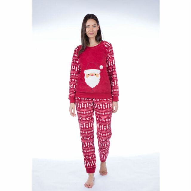 LN685 Size 8-22 Fleece Pyjamas Nightwear PJs Ladies Animal Twosie Pyjama Set
