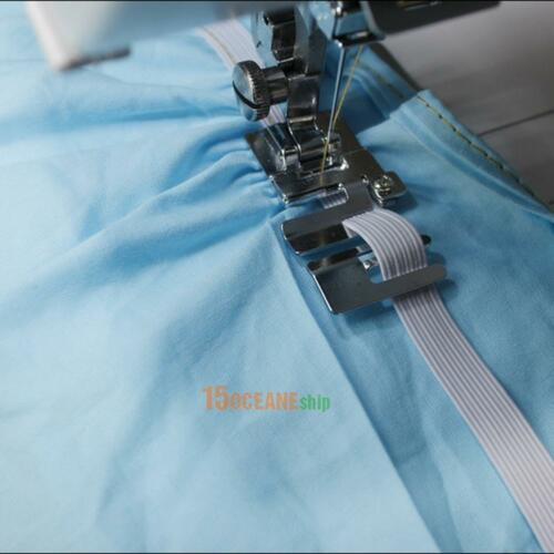 1x Elastic Cord Band Fabric Stretch Domestic Sewing Machine Foot Presser Snap On