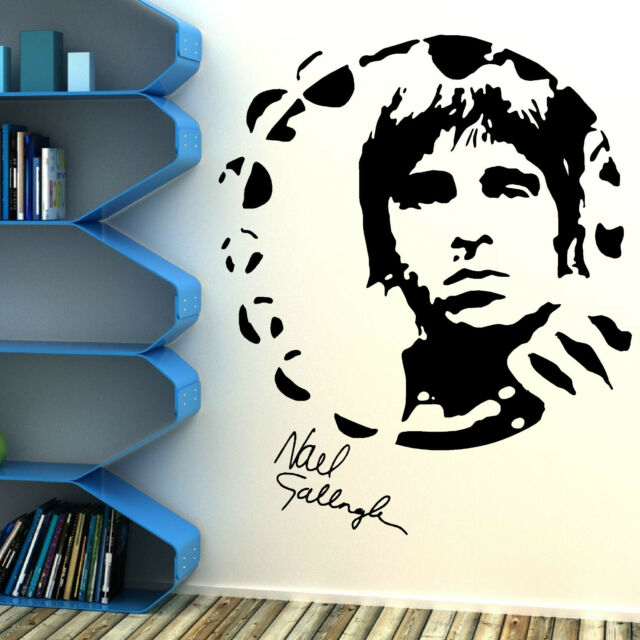NOEL GALLAGHER OASIS portrait vinyl wall art sticker mural decal music themed