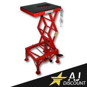 Ponte sollevatore idraulico cavalletto alza 135 kg per for Ponte sollevatore a forbice