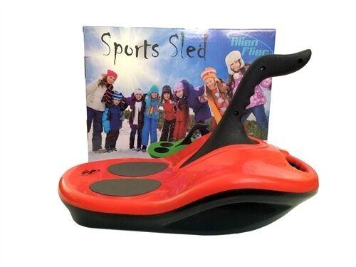 Sport Sled Snow Sand Toboggan Alien Flier Portable Lightweight Steering Brake