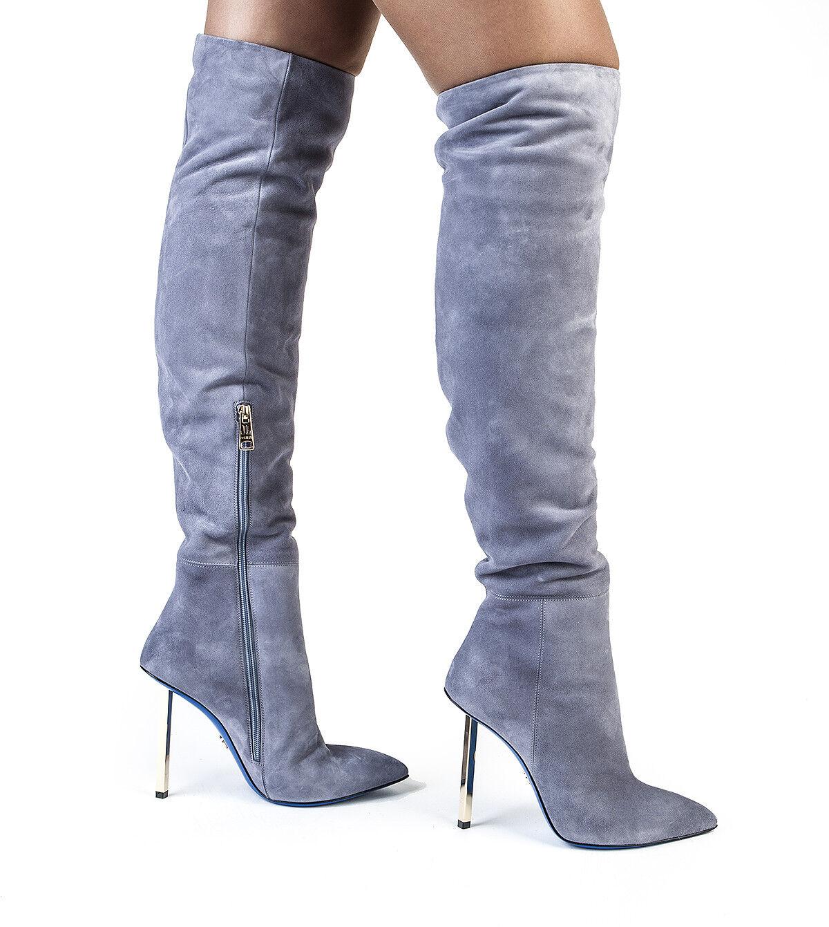 Authentic Loriblu Suede Italian Designer Collection Boots Sizes 6,7,8,9,10
