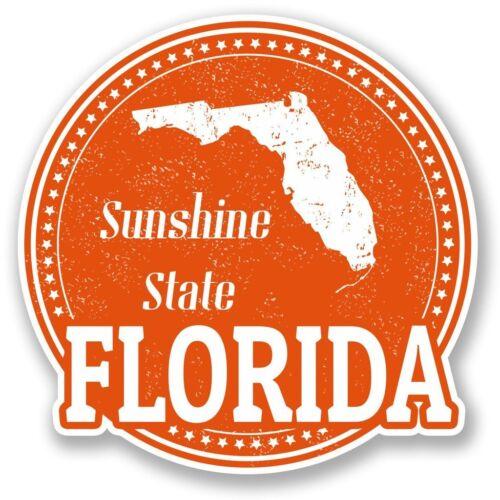 2 x Florida Vinyl Sticker Laptop Travel Luggage Car #5497
