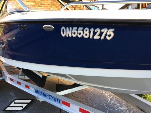 Gold Boat Numbers Decal Registration Sticker Stiffie Whipline Solid WLS12 Met