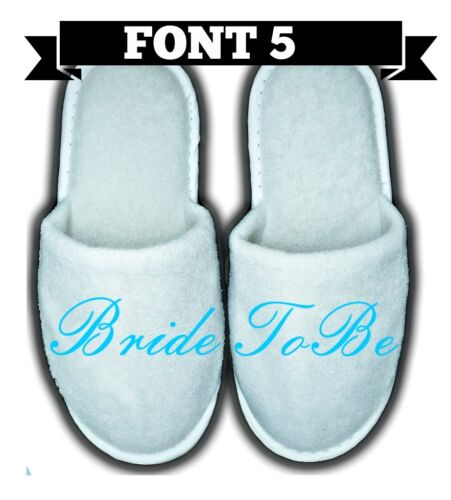 PERSONALISED SPA SLIPPERS CLOSED TOE ANY NAME MESSAGE GIFT WEDDING GUEST FUNNY