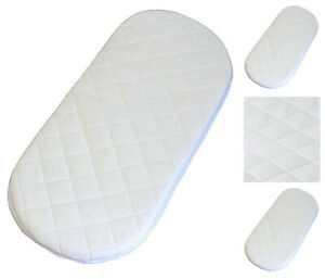 74 X 28 X 3.5 cm Quilted Breatheable Hypoallergenic Moses Pram Basket Mattress Oval Shaped Waterproof Mattress Size