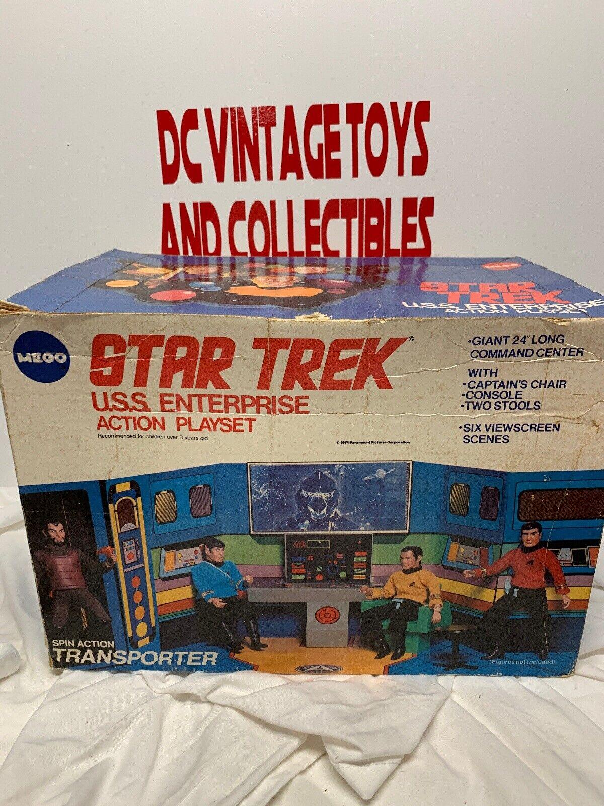 Mego 1975 Star Trek USS Enterprise Action Playset NOT Complete w Box