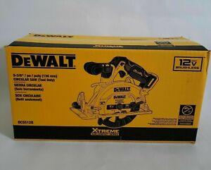 DEWALT XTREME 12-Volt Max 5-3/8-in Brushless Cordless Circular Saw (DCS512B)