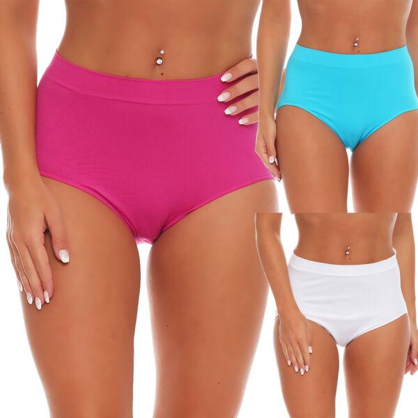 Damen Slips 3er Pack Formslip Unterhose Taillenslip Unterwäsche Panty Hipster 60