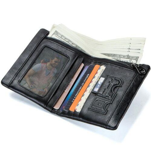 Men/'s Wallets Genuine Leather Wallet For Man Credit Card Holder Casual Man Short