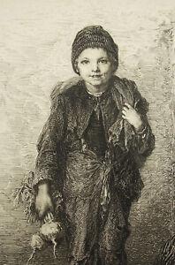 Ravissement Gravure Signée Au Crayon Datée 1880 à Déterminer