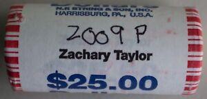 2009-P-Zachary-Taylor-Hors-Circulation-Un-Dollar-25-Dore-Monnaie-Rouleau
