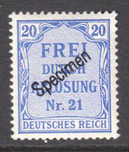 GERMANY-OL5-SPECIMEN-OG-NH-XF-BEAUTIFUL-GUM-SCARCE
