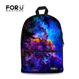 781f8df7b5 Vintage Galaxy Backpack Canvas School Bag For Boys Girls Rucksack ...