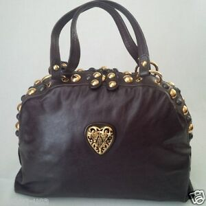 3ca6db4d8ddc Gucci Made In Italy Brown Leather Purse. Authentic GUCCI Bamboo Brown  Leather Shoulder Bag ...
