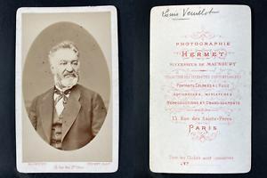 Hermet, Paris, Louis Veuillot, journaliste Vintage cdv albumen print.Louis Veu