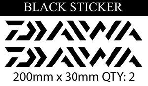 1 X  large Daiwa Fishing Sticker Vinyl Decal for dinghy tackle Box