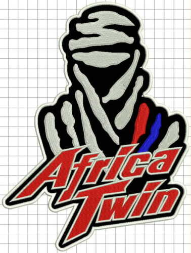 """HONDA Africa Twin XRV650 XRV750T CRF1000L patch 10/"""" biker Sew on leather vest"""