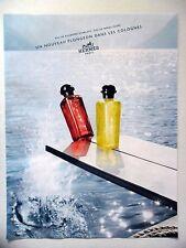 PUBLICITE-ADVERTISING :  HERMES Plongeon dans les Colognes  2016 Rhubarbe...