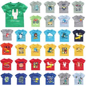 Baby-Kids-Boys-Girls-T-shirt-Cartoon-Short-Sleeve-Summer-Casual-Cotton-Tee-Tops