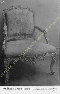 Postcard-Arts-Decorative-Chair-Furniture-Period-Louis-XV-Edit-ND-303