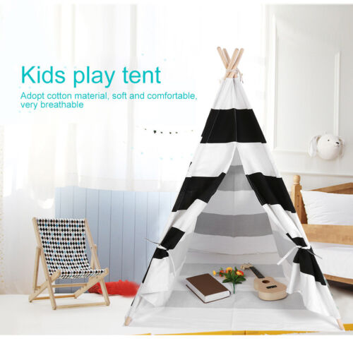 Children Kids Wigwam Teepee Play Tent Game Playhouse Foldable Tipi Out Indoor