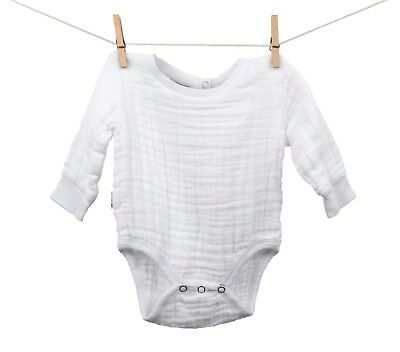 Muslin Cotton BabyFootie,Footed bodysuit100/% Organic Cotton made in USA Blue