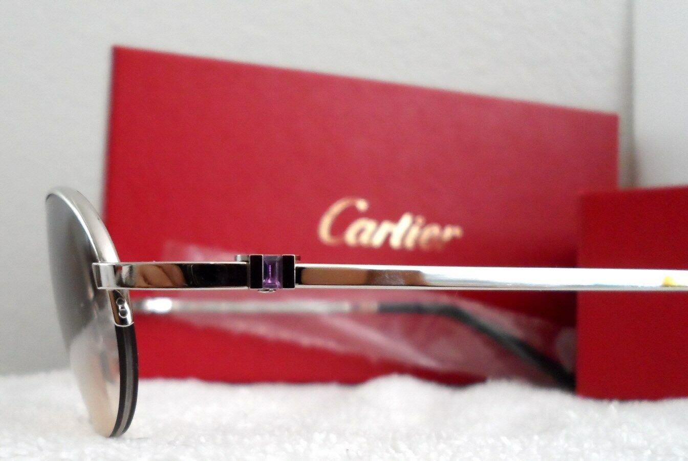750cc49d7471 Authentic Cartier Semi Rimless  amethyst  Sunglasses Eyeglasses for ...